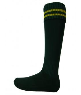 S002 Bottle/Gold Football Socks